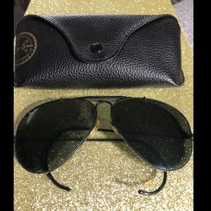 Ray-Ban black Aviator Outdoorsman Sunglasses